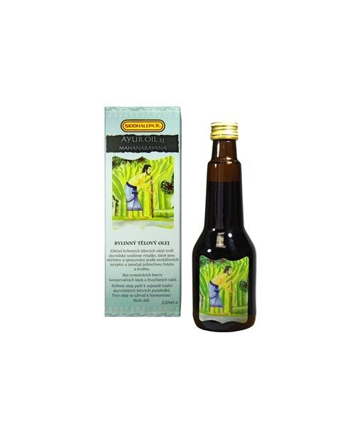 Siddhalepa Ayur bylinný tělový olej č. 23 Mahanarayana, 220 ml