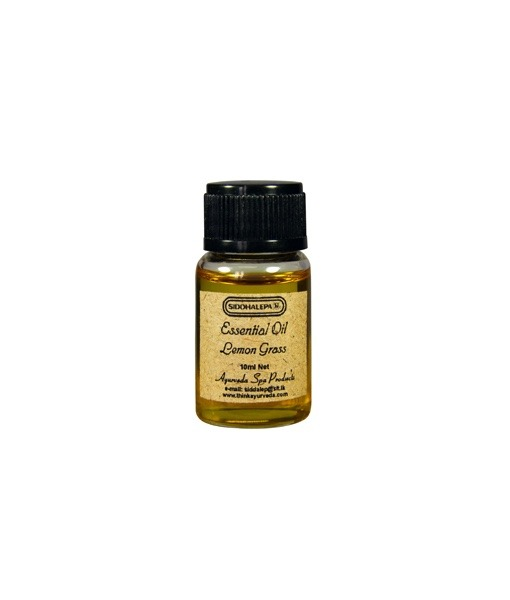 Siddhalepa Citronová tráva - Lemongrass - esenciální olej, 10 ml