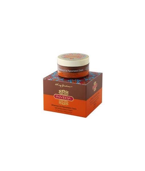 Inveda Bělící a depigmentující krém s čistícím citronem & kurkumou, 50 ml