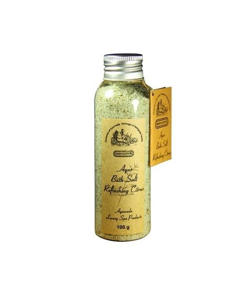 Siddhalepa Koupelová sůl Refreshing citrus, 100 g
