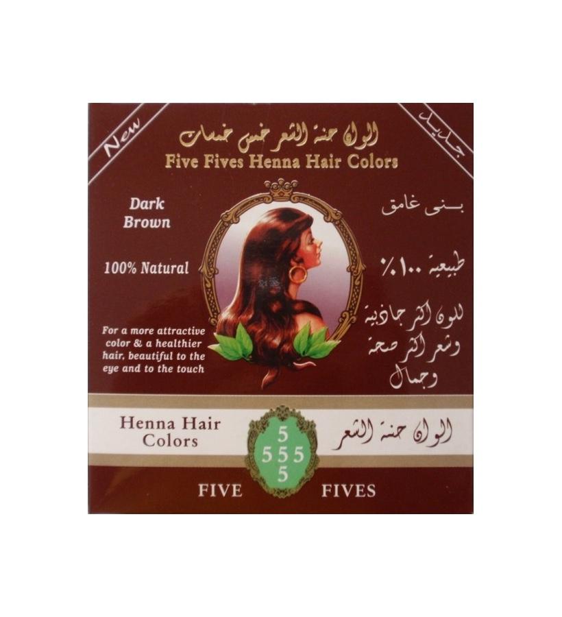 Five Fives Henna Herb - Henna Lamda tmavě hnědá, 100 g