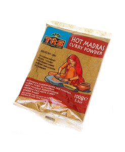Hot Madras Curry Powder - kari koření pálivé, 100 g