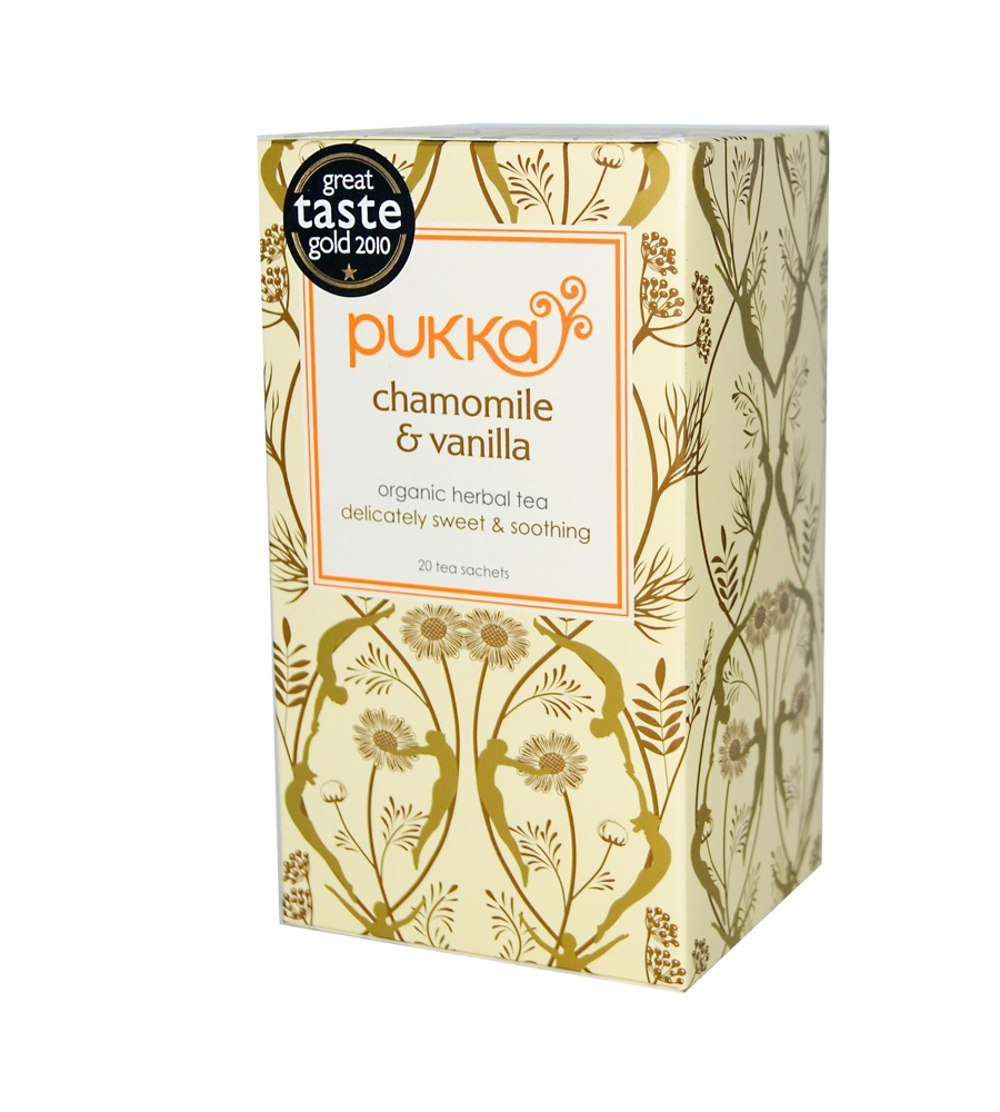 Pukka čaj Heřmánek s vanilkou, bio, 20 sáčků