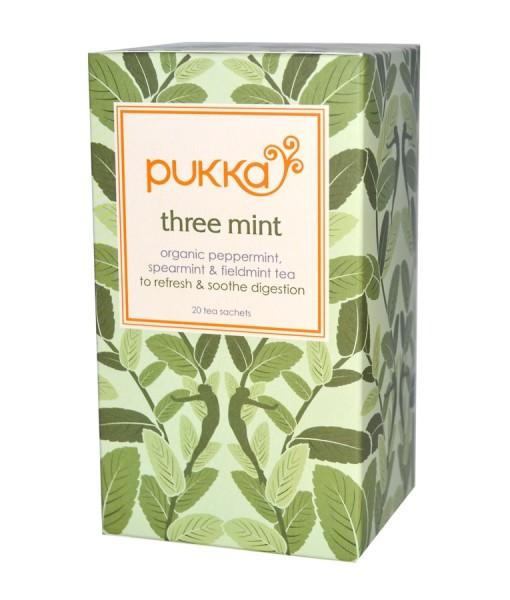 Pukka čaj Three Mint - 3x máta, bio, 20 sáčků