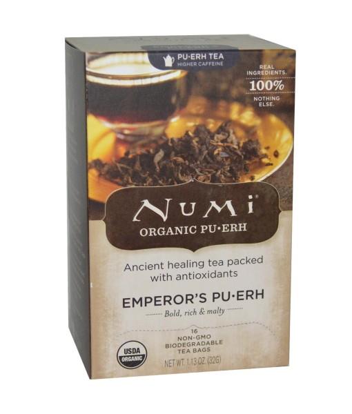 Numi Organic Emperor's Pu-Erh - císařský Pu-Erh, bio, 16 sáčků