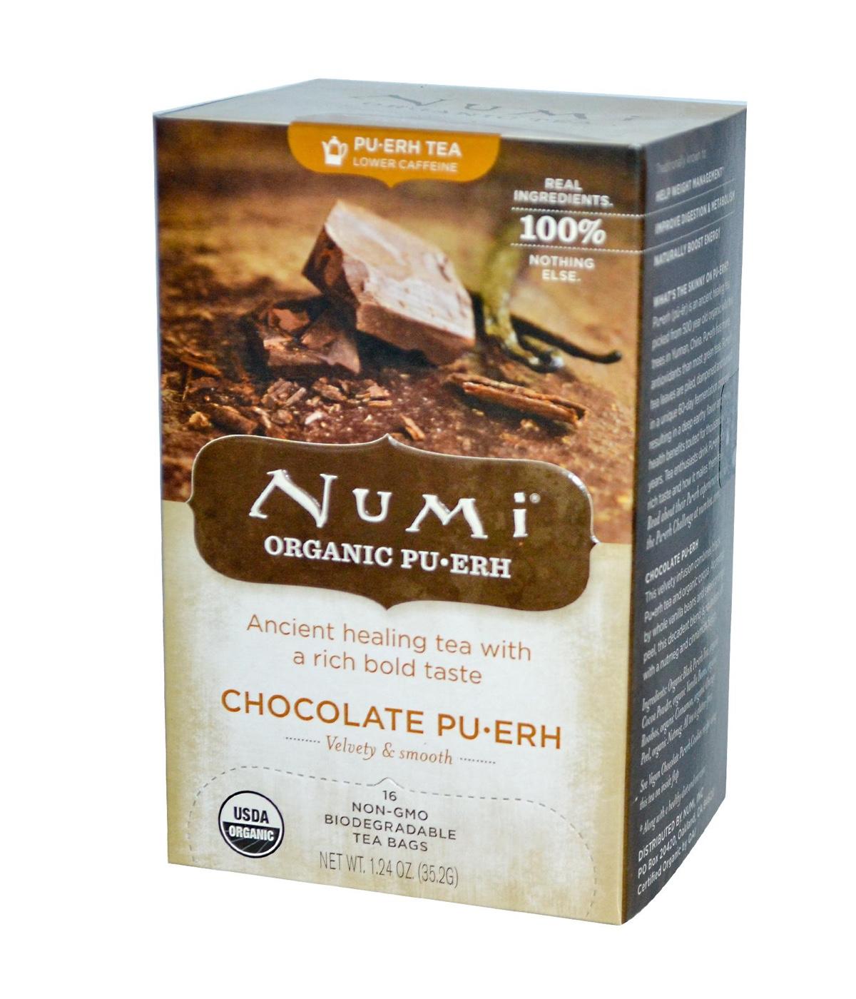 Numi Organic Pu-Erh Chocolate Pu-Erh - Pu-Erh s čokoládou, bio, 16 sáčků