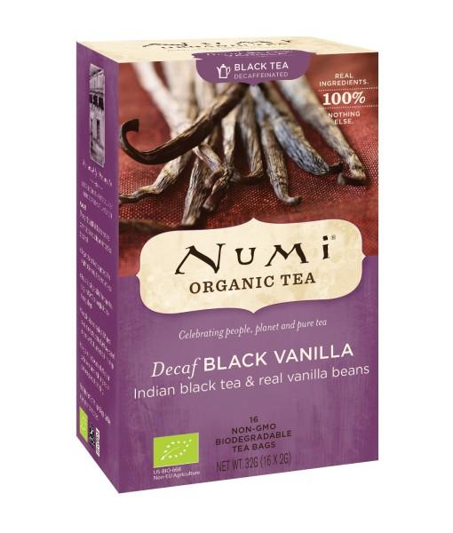 Numi Organic Tea Decaf Black Vanilla - černý čaj s vanilkou, bio, 16 sáčků