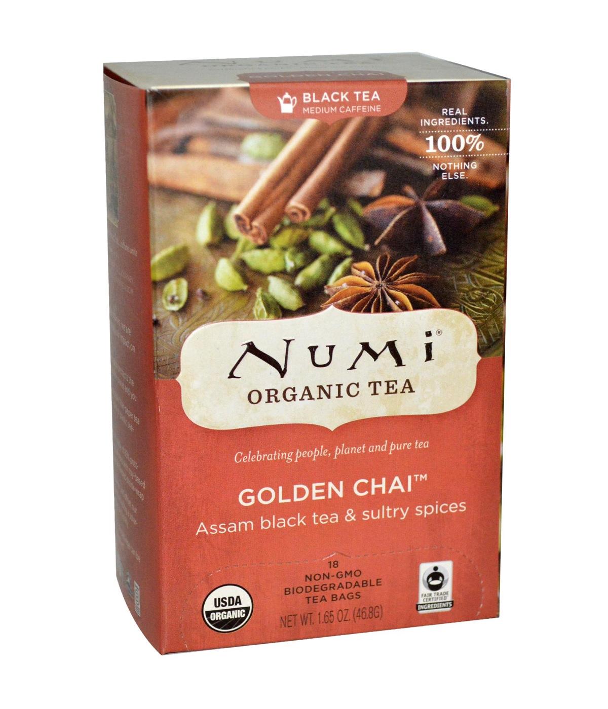 Numi Organic Tea Golden Chai - černý zlatý Chai, bio, 18 sáčků