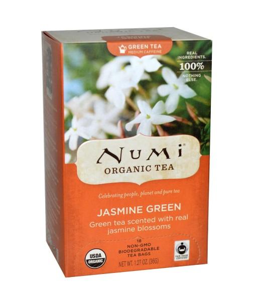 Numi Organic Tea Jasmine Green - zelený čaj s jasmínem, bio, 18 sáčků