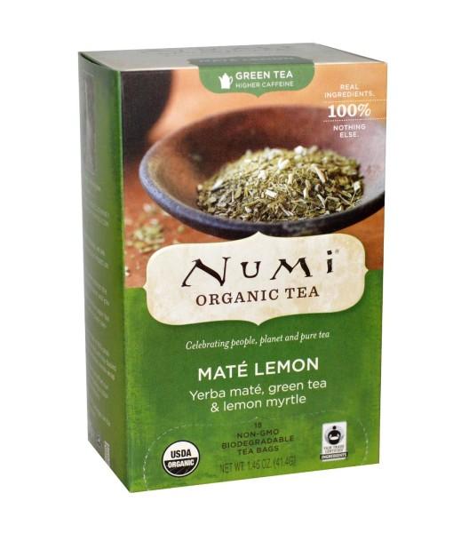 Numi Organic Tea Maté Lemon - yerba maté se zeleným čajem a myrtou citronovou, bio, 18 sáčků