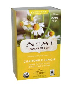 Numi Organic Tea Chamomile Lemon - heřmánek s citronovou myrtou, bio, 18 sáčků