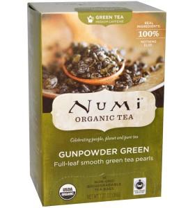 Numi Organic Tea Gunpowder Green - zelený gunpowder, bio, 18 sáčků