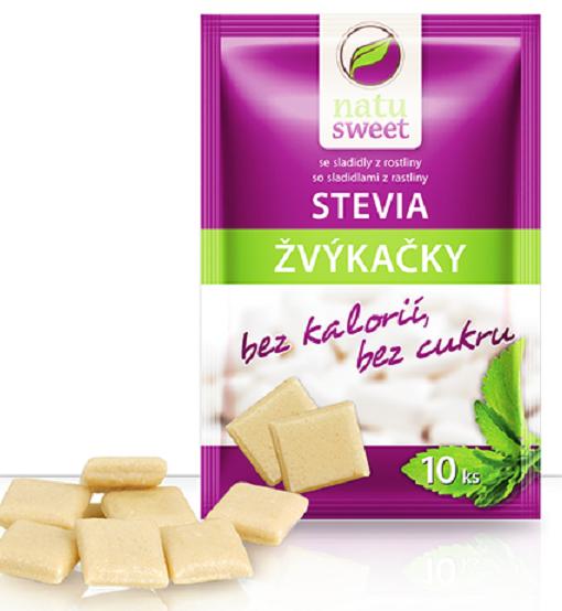 Žvýkačky se stevií 10 ks
