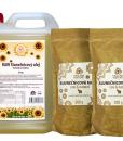 Raw slunečnicový olej + mouka zdarma