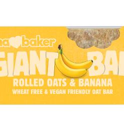 Obří ovesná tyčinka banánová