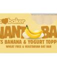 Obří ovesná tyčinka banánová s jogurtem