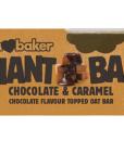 Obří ovesná tyčinka karamel s belgickou čokoládou