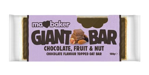 Obří ovesná tyčinka ořechy s čokoládou