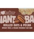 Obří ovesná tyčinka pekanové ořechy